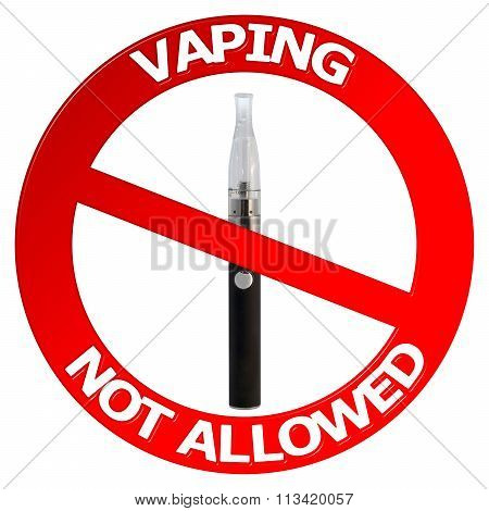 Vaping Not Allowed Sign