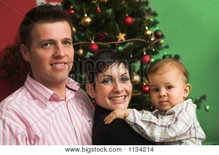 Happy Family At Christmas