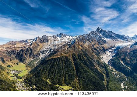 Aiguille Verte, Chardonnet And Glaciers-france