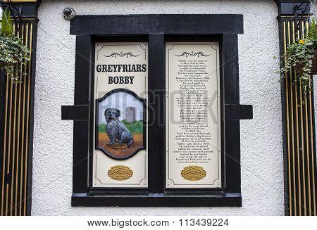 Greyfriars Bobby Information Sign In Edinburgh