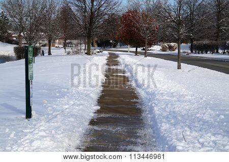 Shoveled Sidewalk