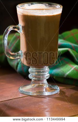 hot mint mocha drink