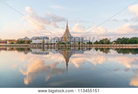 Reflex picture of Wat Sothon Wararam Worawihan, Chachoengsao, Thailand