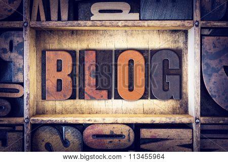 Blog Concept Letterpress Type