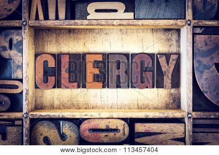 Clergy Concept Letterpress Type