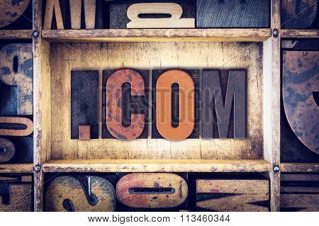 Dot Com Concept Letterpress Type