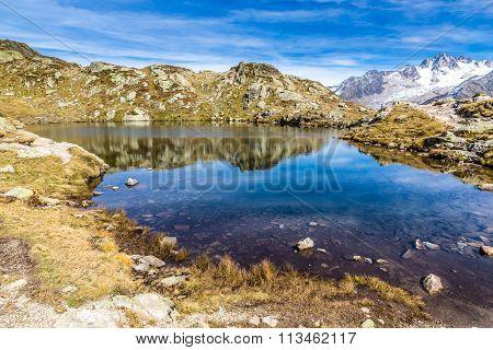 Lac Des Cheserys And Aiguille Du Tour - France