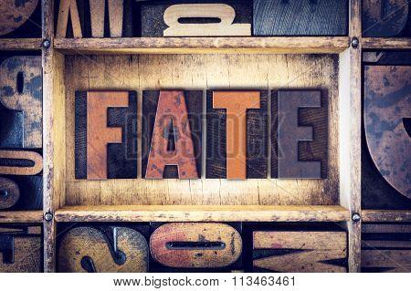Fate Concept Letterpress Type