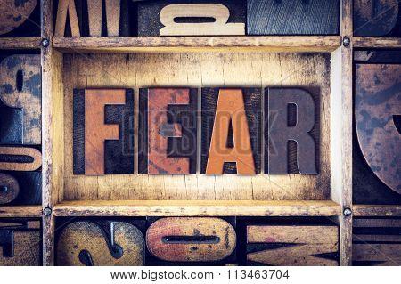 Fear Concept Letterpress Type