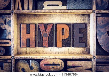 Hype Concept Letterpress Type