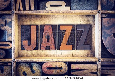 Jazz Concept Letterpress Type