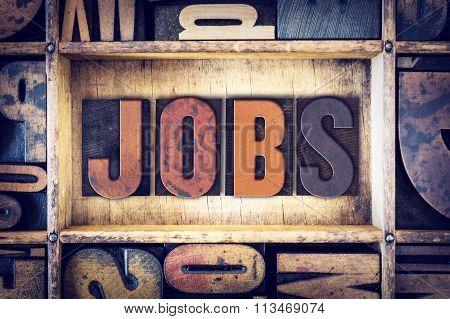 Jobs Concept Letterpress Type