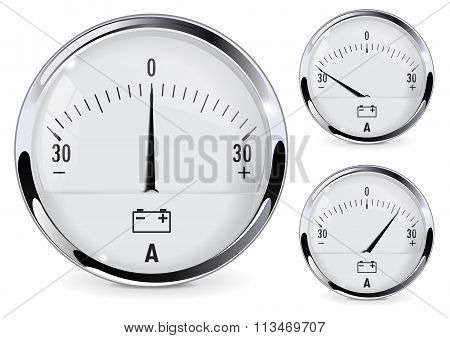 Ammeter For Car Dashboard.