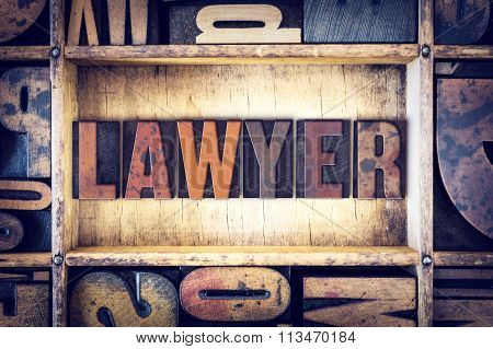 Lawyer Concept Letterpress Type