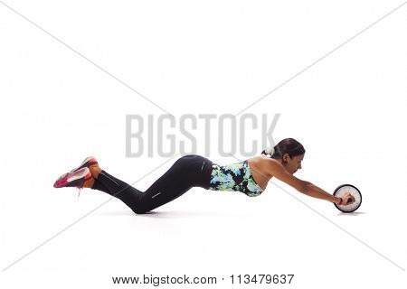 Woman exercising the abdominal muscles