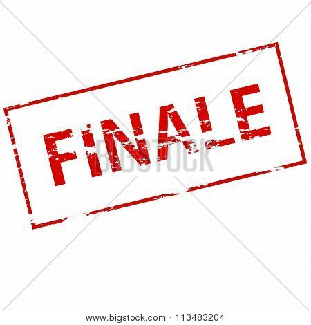 Rubber stamp with word finale inside vector illustration