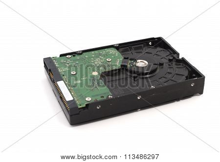 Internal Hard Disk Drive Old Ide Interface Hdd Isolated On White Background.