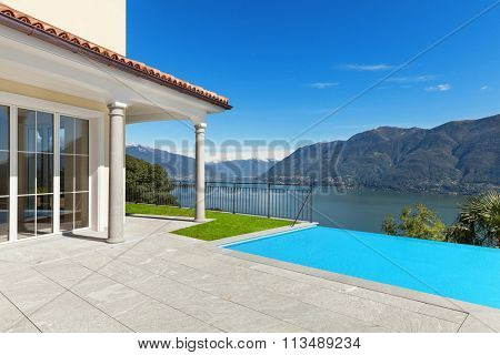 Lake Maggiore, view from the terrace of an a house