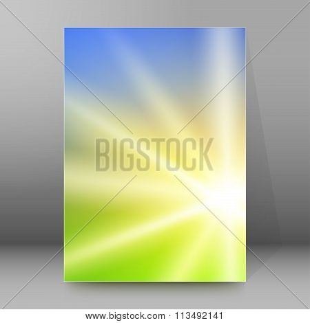 Meadow Blur Sunrise Background Cover Page Brochure