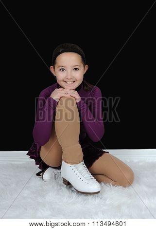 Beautiful Young Figure Skater Posing