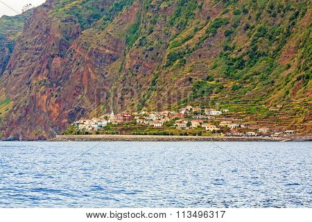 Jardim do Mar Madeira - offshore view poster