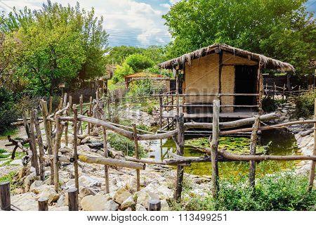 Hut With Pond