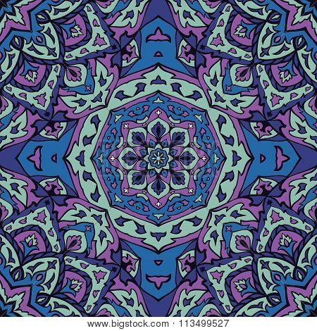 Stylized Colorful Ethnic Pattern.