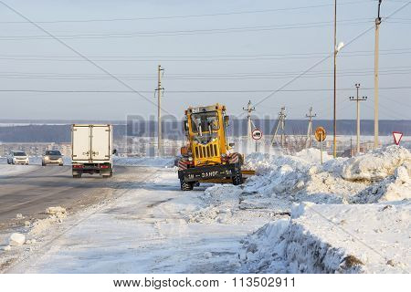 Snowplows Clears Highway