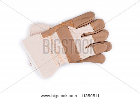 Working Gloves Isolated On White.
