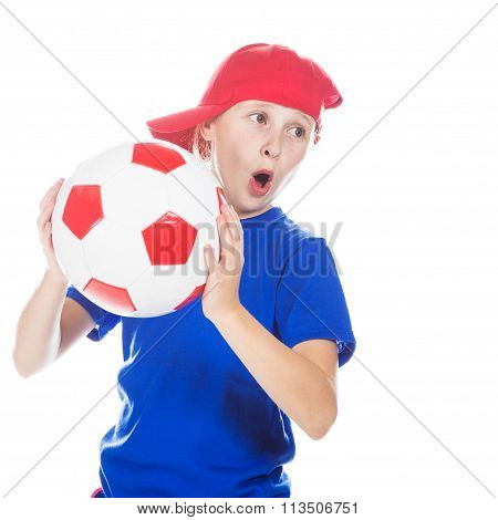 Beautiful gir with a ball.