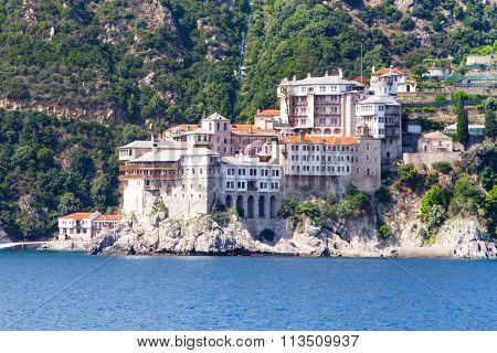 Agia Grigoriou Orthodox monastery at Mount Athos,  Halkidiki , Greece