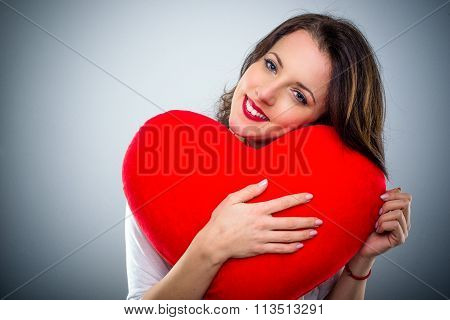 Sentimental Young Woman In Love