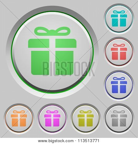 Gift Push Buttons