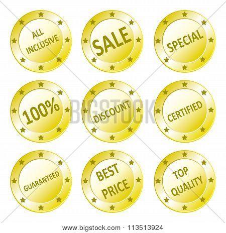 Various Sales Seals