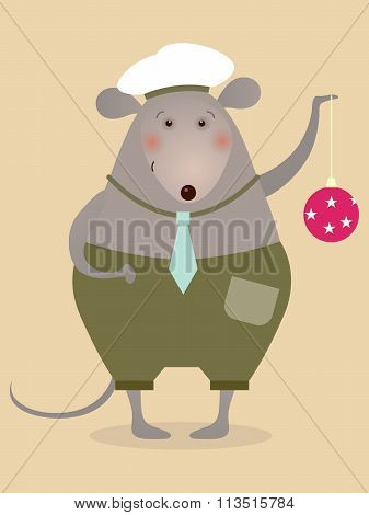 Mouse Sailor With Boll