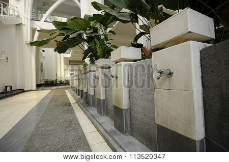 Ablution of The Sultan Ismail Airport Mosque at Senai Airport, Malaysia