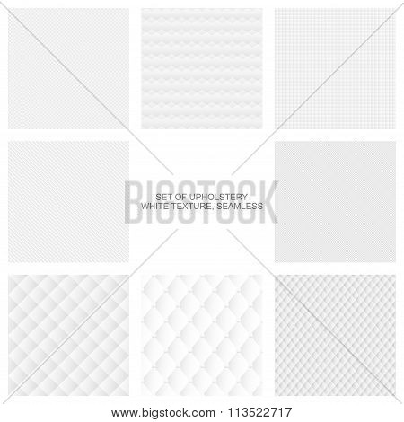 Upholstery texture, seamless vector collection.