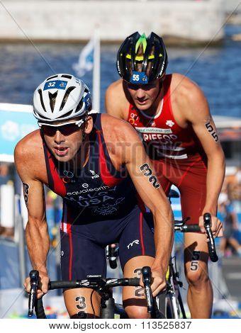 Close-up Of Cycling Triathlete Maloy (usa)
