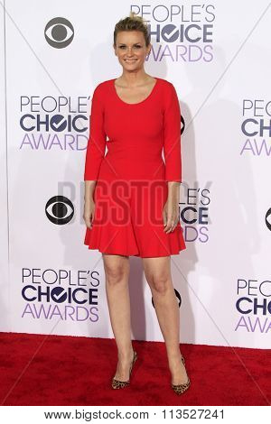 LOS ANGELES - JAN 6:  Bonnie Somerville at the Peoples Choice Awards 2016 - Arrivals at the Microsoft Theatre L.A. Live on January 6, 2016 in Los Angeles, CA