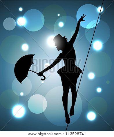 tightrope walker girl