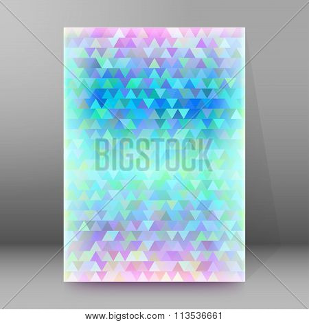 Winter Mosaic Triangles Cover Page Brochure Background