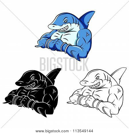 Sharks Strong collection .eps10 editable vector illustration design