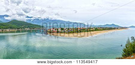 Lang Co Bay Panorama view from Hai Van Pass