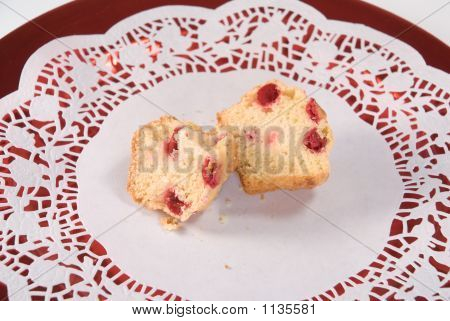 Cranberry Muffin On Lace