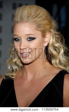 HOLLYWOOD, CALIFORNIA - August 30, 2011. Kristen Renton at the Season 4 premiere of FX Network's