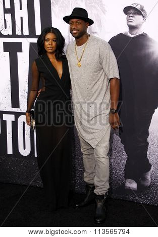 Dwyane Wade and Gabrielle Union at the Los Angeles premiere of