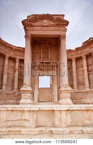 Entrance To The Amphitheatre At The Ancient City Of  Palmyra, Syrian Desert