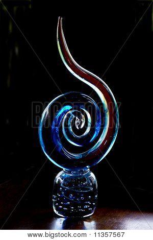 Stylised Glass Koru