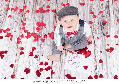 Baby Wishing Happy Valentines