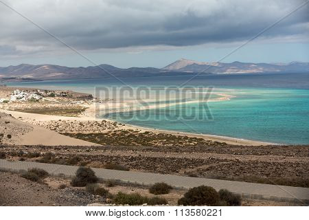 Beach Playa de Sotavento Canary Island Fuerteventura Spain